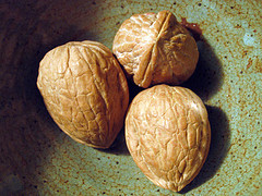 Three nuts waiting to be cracked