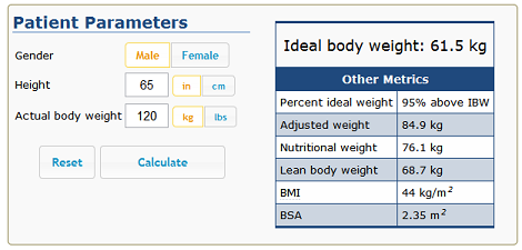 Ideal Body Weight Calculator – Now Available! - ClinCalc.com
