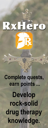 RxHero - Complete quests, earn points ... Develop rock-solid drug therapy knowledge