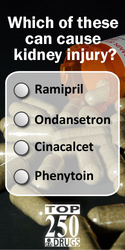 Which of these drugs causes acute kidney injury? The Top 250 Drugs by ClinCalc Academy