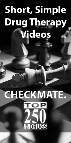 Top 250 Drugs: Short, simple drug therapy videos - checkmate.