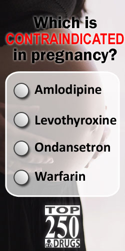 Which of these drugs is contraindicated in pregnancy? The Top 250 Drugs by ClinCalc Academy